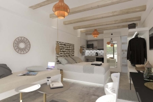 Luxury Suite 3, Aelia Suites: Milos luxury suites jacuzzi pool Adamas port